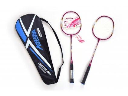 Set raket na badminton EUPROMED AURORA RŮŽOVÁ