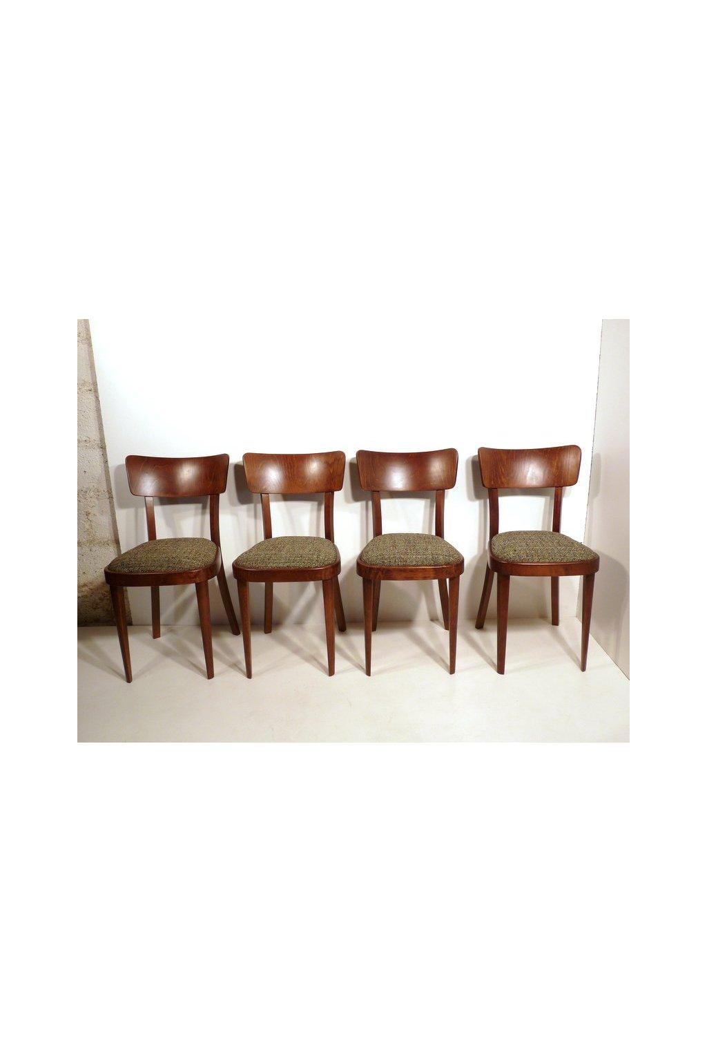 dřevěné čalouněné jídelní židle1 P1420618