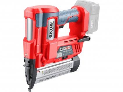 EXTOL PREMIUM 8891861 hřebíkovačka/sponkovačka aku SHARE20V, 20V Li-ion, bez baterie a nabíječky