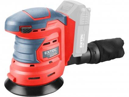EXTOL PREMIUM 8891847 bruska excentrická aku SHARE20V, 125mm, 20V Li-ion, bez baterie a nabíječky