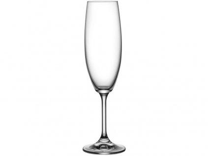 sklenice na šampus flétna 220ml LARA (6ks) CRYSTALEX