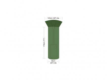 plachta krycí na zahradní topidlo pr.124/56cm, v.179cm, PE 90g/m2