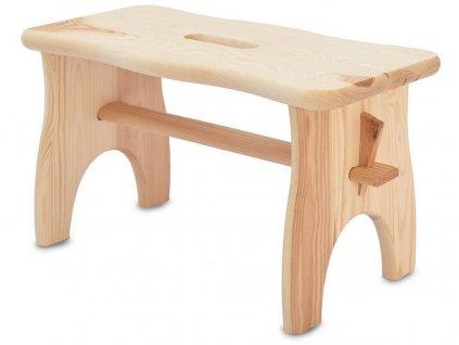 stolička 38x19x21cm, nosnost 100kg dřev.borovice