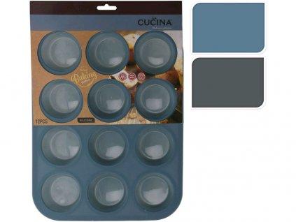 forma na muffiny 12ks 33x25x3cm silikon mix barev