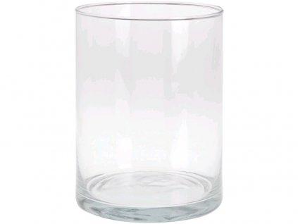 váza dekorační válec pr.15x20cm skl.