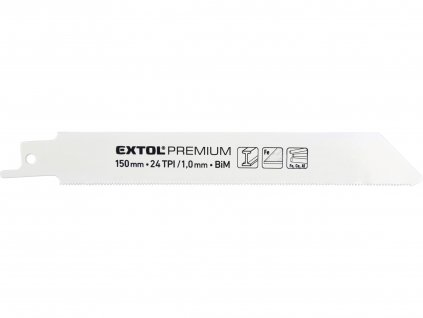 EXTOL PREMIUM 8806204 plátky do pily ocasky 3ks, 150x19x0,9mm, Bi-metal