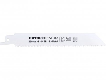 EXTOL PREMIUM 8806205 plátky do pily ocasky 3ks, 150x19x0,9mm, Bi-metal