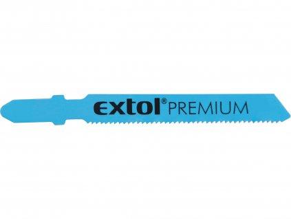 EXTOL PREMIUM 8805401 plátky do přímočaré pily 5ks, 51x1,2mm, HSS