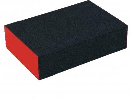 EXTOL PREMIUM 8803663 brusná houba, 100x70x25mm, P80, čtyřstranná, abrazivo-korund
