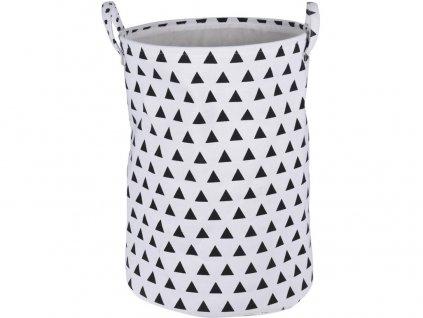 koš na špinavé prádlo kulatý s úchyty pr.38x55cm 100% BA/polyester mix dekorů
