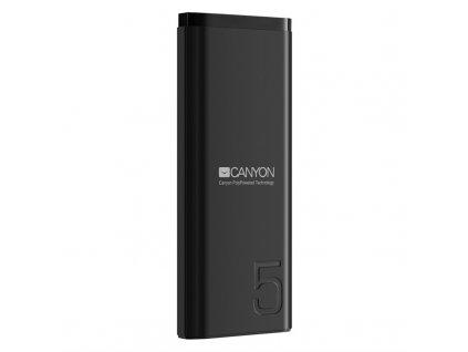 Powerbank Canyon 5000 mAh, USB-C - černá