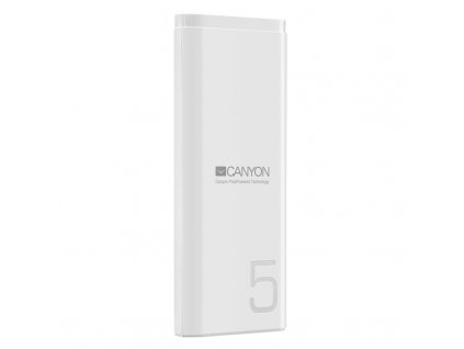 Powerbank Canyon 5000 mAh, USB-C - bílá