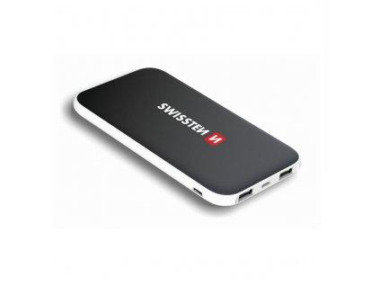Powerbank Swissten iNLIGHT, 10000 mAh - lightning, USB-C - černá