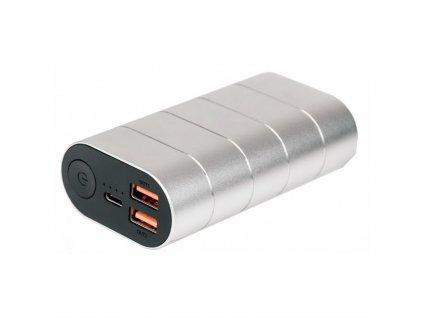 Powerbank Verbatim 10000 mAh, USB-C PD, QC 3.0 - stříbrná