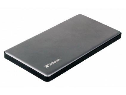 Powerbank Verbatim 5000 mAh, USB-C - stříbrná