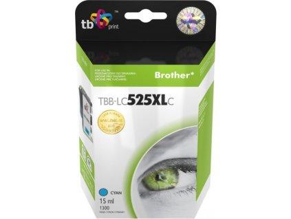 Inkoustová náplň TB LC525XLC pro tiskárny Brother DCP-J100/ DCP-J105/ MFC-J200 - cyan
