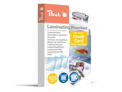 Laminovací fólie Peach na kreditní karty (54x86mm), 125mic, 100 ks