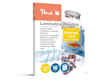 Laminovací fólie Peach na vizitky (60x90mm), 125mic, 25 ks