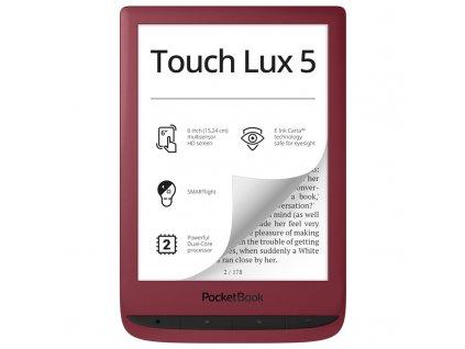 Čtečka e-knih Pocket Book 628 Touch Lux 5 - červená