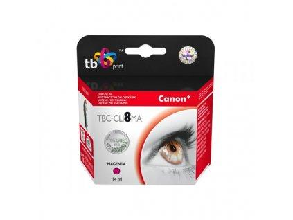 Inkoustová náplň TB Canon CLI-8M kompatibilní - červená