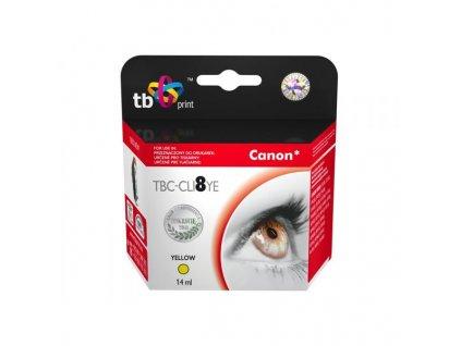 Inkoustová náplň TB Canon CLI-8Y kompatibilní - žlutá