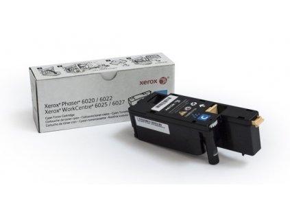 Toner Xerox 106R02761 pro tiskárny Phaser 6020/ 6022, WorkCentre 6025/ 6027 1000 str.- cyan