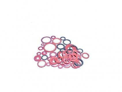Těsnění kroužky fíbr. AUTO T2/268    (54ks)