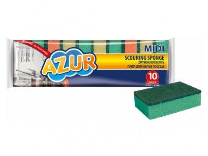 Houbička na nádobí MIDI 8x4,5x2,5cm (10ks) mix barev