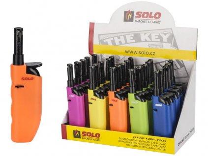Zapalovač SOLO 12cm plamínkový mix barev