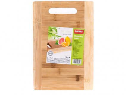 Prkénko s ručkou 30x20x1,5cm BRILLANTE  bambus