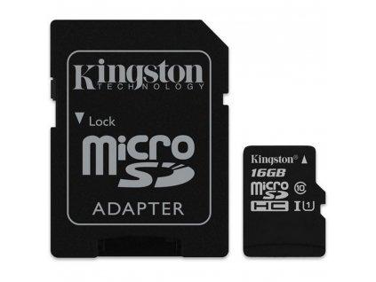 MicroSDHC 16GB UHS-I SDCS v2 KINGSTON