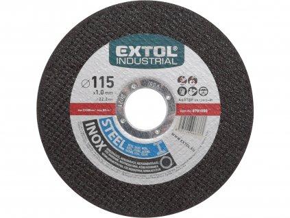 EXTOL INDUSTRIAL 8701000 kotouč řezný na ocel/nerez, O 115x1,0x22,2mm