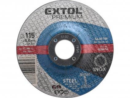 EXTOL PREMIUM 8808150 kotouč řezný na ocel/nerez, O 115x0,8x22,2mm