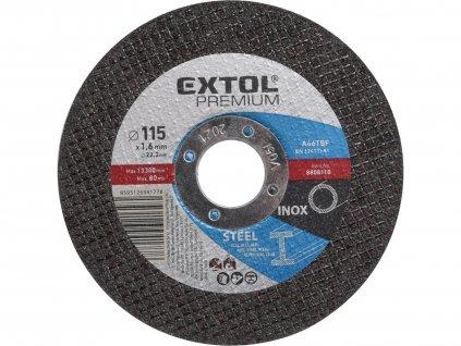EXTOL PREMIUM 8808110 kotouč řezný na ocel/nerez, O 115x1,6x22,2mm
