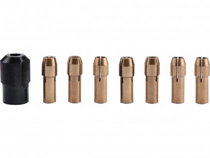 EXTOL CRAFT 404191 kleštiny, sada 8ks, ⌀1-1,6-2-2,3-3-2x3,2mm, hlavice M8x0,75