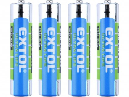 EXTOL ENERGY 42000 baterie zink-chloridové, 4ks, 1,5V AAA (R03)