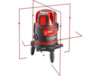 EXTOL PREMIUM 8823311 laser červený liniový, křížový samonivelační