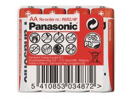 R6 4S AA Red zn PANASONIC