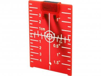 EXTOL PREMIUM 8823395 terč pro zvýraznění laser. paprsku, červený