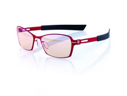 Herní brýle Arozzi VISIONE VX-500, jantarová skla - černé/ červené