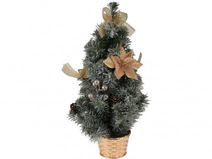 Stromek vánoční v květníku 60cm ozdobený ZE/mix barev