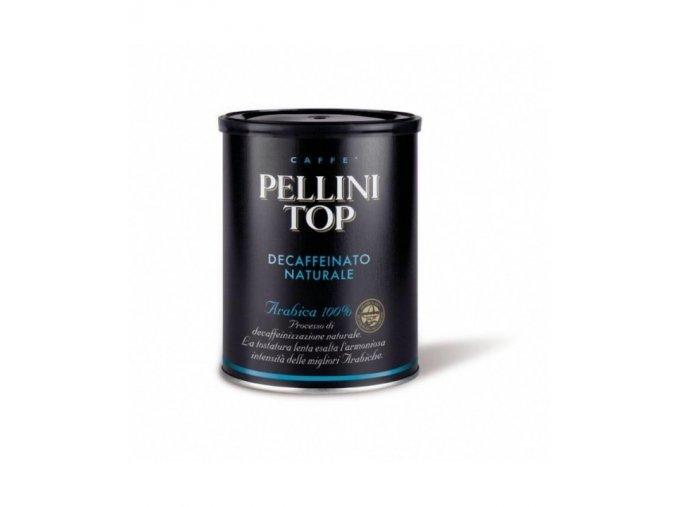 pellini top decaffeinato mleta kava v plechove doze 250g