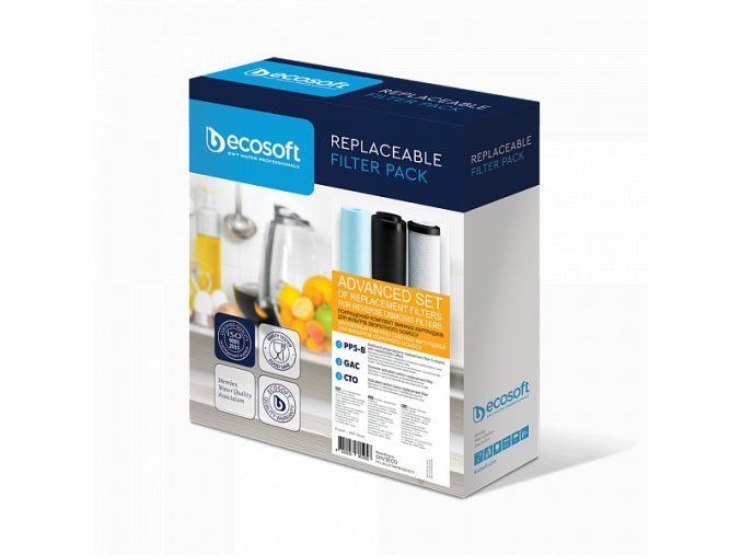 ecosoft set of improved replacement filters 1 2 3 for reverse osmosis filters