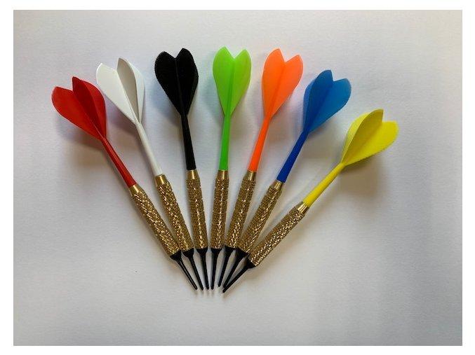 Šipka plastová 1/4 - 2BA  různé barvy