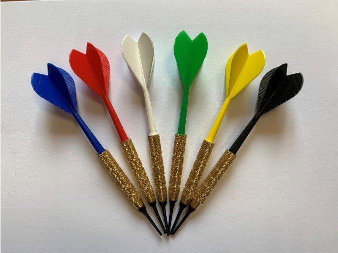 Šipka plastová 2BA - 1/4 různé barvy