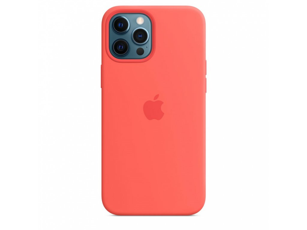 Apple iPhone 12 Pro Max Silicone Case with MagSafe - Pink Citrus (Seasonal Fall 2020)