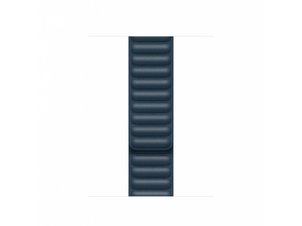 Apple Watch 40mm Band: Baltic Blue Leather Link - Small (DEMO) (Seasonal Fall 2020)