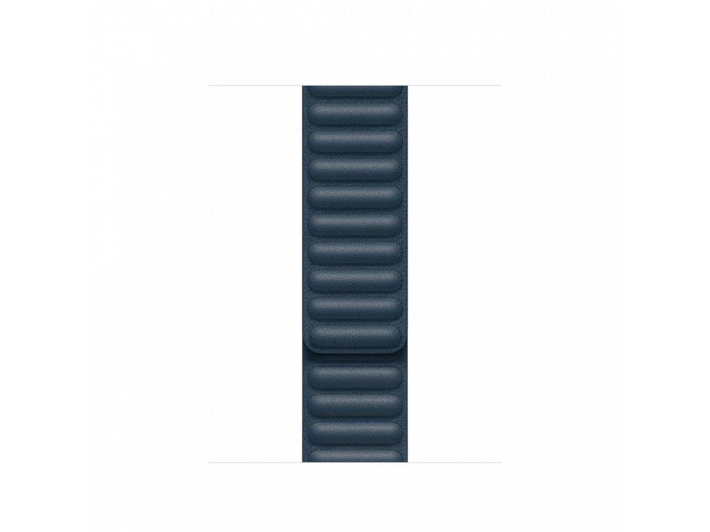 Apple Watch 40mm Band: Baltic Blue Leather Link - Large (DEMO) (Seasonal Fall 2020)