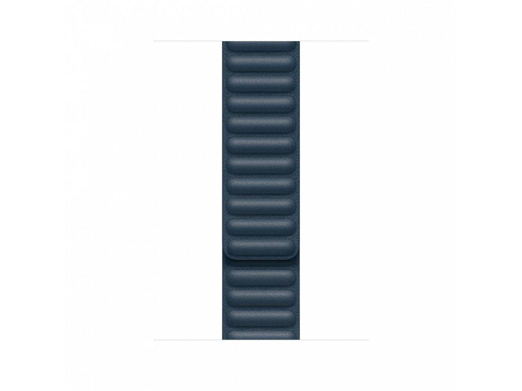 Apple Watch 44mm Band: Baltic Blue Leather Link - Small (DEMO) (Seasonal Fall 2020)