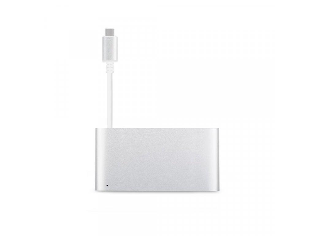 Moshi USB-C Multiport Adaptér - Stříbrná